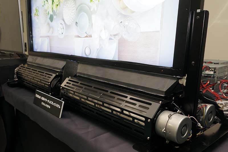 7,000nit HDRパワーディスプレイシステム冷却機構