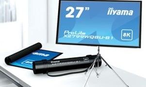 4月1日ヨーロッパで、「iiyama」が8Kロールアップモニター販売開始か?