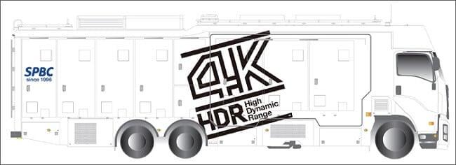 スカパーが、4K HDR対応中継車を注文。2017年から、4K HDRで生中継できる?
