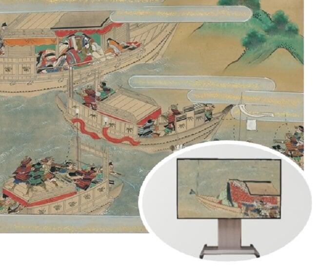10月18日より関空にて『平家物語絵巻』デジタル化画像を8Kで公開!