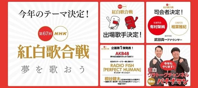 「第67回NHK紅白歌合戦」の8Kライブビューイング募集開始!
