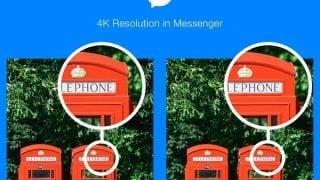 Facebook「Messenger」4K解像度の写真が、やり取り可能に!!