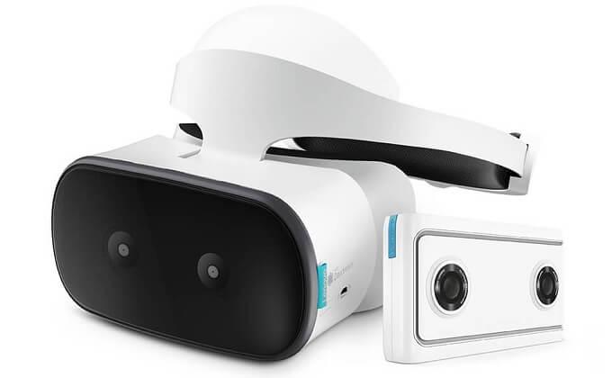 レノボから、単独動作可能なVRヘッドセットとVR180対応 4K 2眼カメラ登場!!