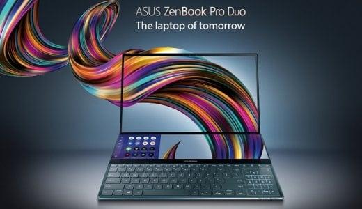 ASUS「ZenBook Pro Duo」を発表 デュアル4Kディスプレイが凄い!日本での発売は?